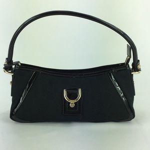 Gucci Black Monogram Canvas Shoulder Bag